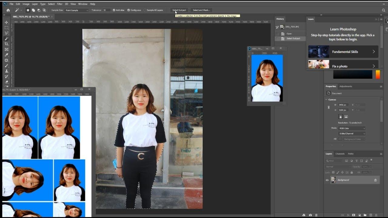 Cách ghép 4 ảnh 4×6  3×4 2×3 vào khổ 10×15 tối ưu nhiều ảnh nhất