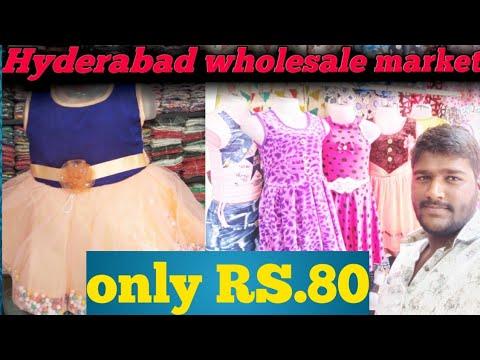 6d8ba9ec1e42 Hyderabad wholesale market baby girls daily wear frocks - YouTube