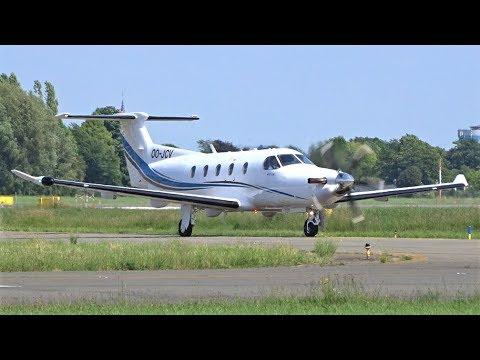 Nextgen Partners Pilatus PC-12 Landing & Taxi At Antwerp Airport Deurne   Stampe Fly In 2019
