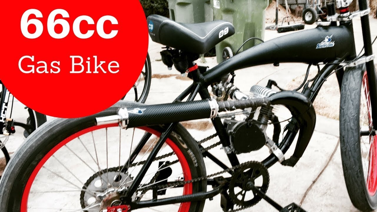 fefe350d414 My New 66cc Custom Motorized Bike gets 85mpg - YouTube