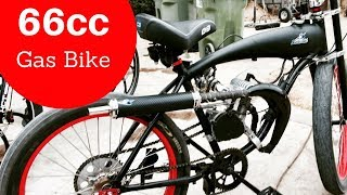 My New 66cc Custom Motorized Bike gets 85mpg