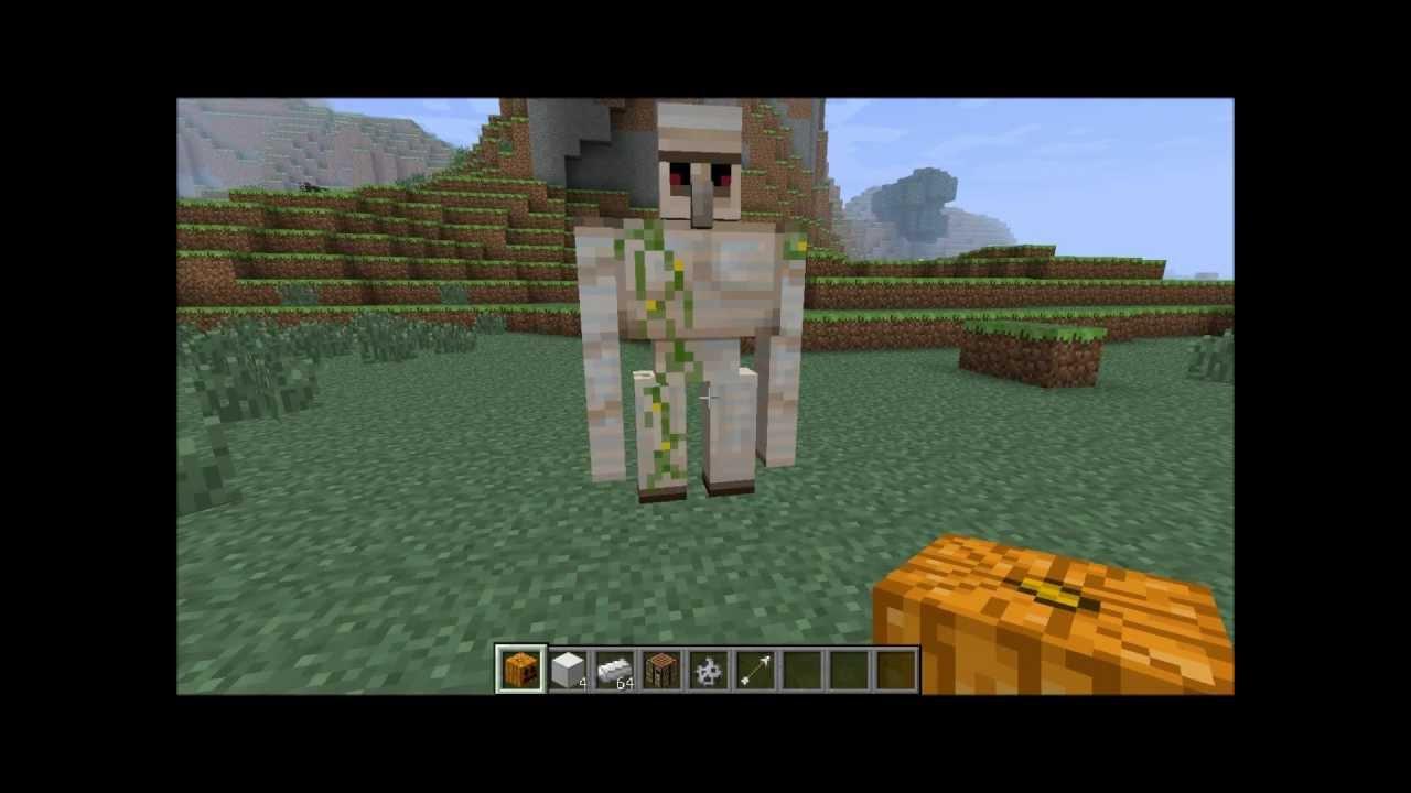 Tuto comment faire un golem de fer dans minecraft by flo13240vallcross youtube - Comment faire une laisse dans minecraft ...