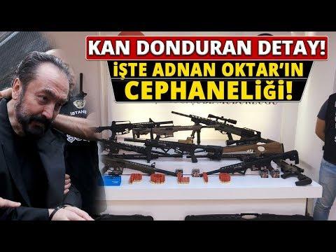 Adnan Oktar Operasyonunda Ele Geçirilen Silahlar Görüntülendi