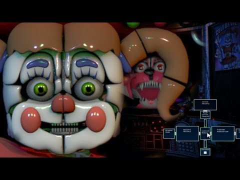 Five Nights at Freddy's Sister Location Remastered Fan Game! | FNAF SISTER LOCATION JUMPSCARES!