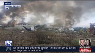 Mexique: un avion s'écrase après le décollage sans faire de victimes
