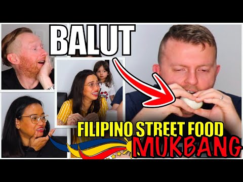 MUKBANG – FILIPINO STREET FOOD | AUSTRALIAN HUSBAND EATS BALUT 😂
