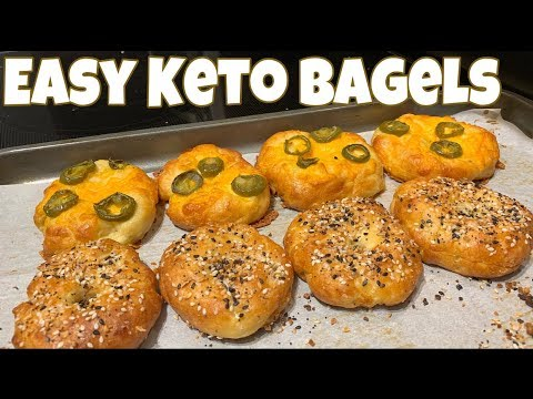 Easy Keto Bagels | Jalapeño Cheddar & Everything Seasoning | Great For Meal Prep!