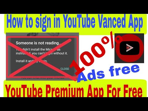 How to sign in YouTube vanced app || YouTube Premium App || Micro G app  YouTube Vanced sign in