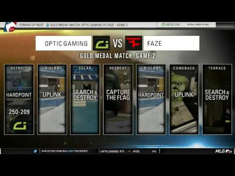 OpTic Gaming vs FaZe - GOLD Medal Match (MLG #XGames Austin 2015)