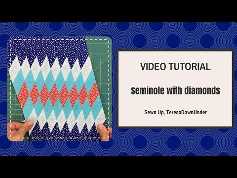 Video tutorial:  Seminole with diamonds