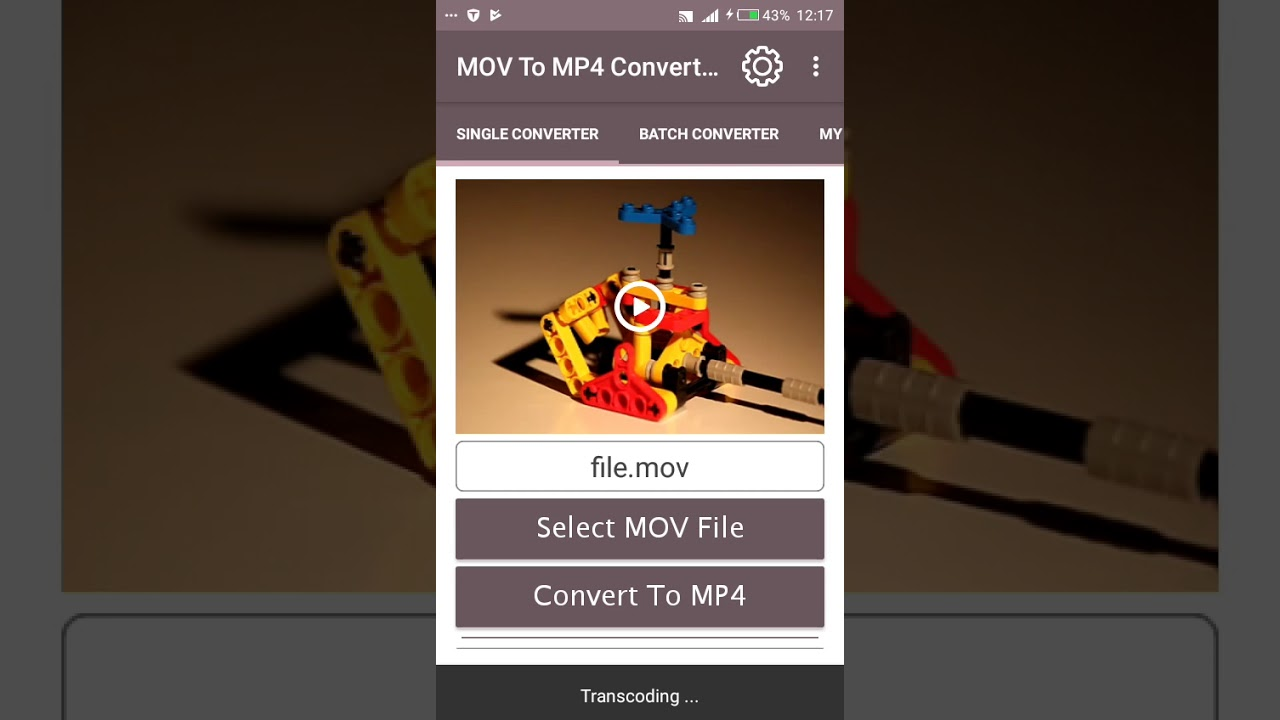 How to convert mov to mp4 android