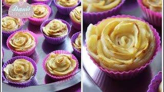 Apple Roses Apfel Cupcakes als Rosen | Danis Cupcakes