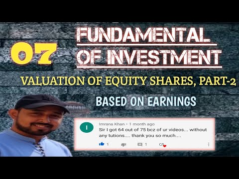 #7 FOI   VALUATION OF EQUITY SHARES   PART-1   BASED ON EARNING   CA RAVI KUMAR