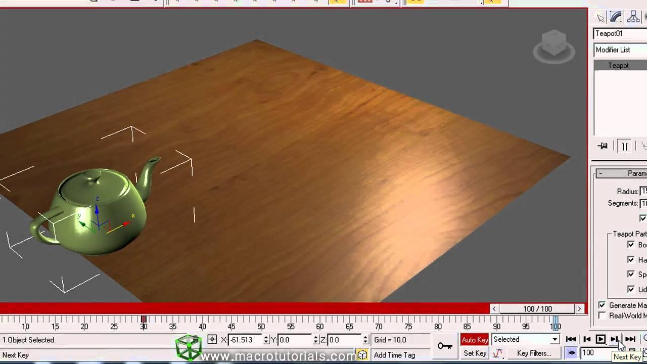 3D Studio Max - Tutorial - Como hacer una simple animación   Lo ...