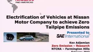 Electrification of Vehicles at Nissan Motor Company to achieve Zero Tailpipe Emissions