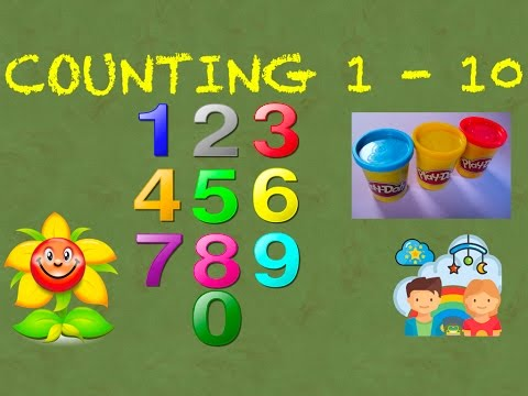 Counting numbers song | Learn To Count 1 to 10 - Playdoh