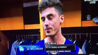 Cody Bellinger Postgame talks about his ankle