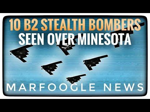 10 B2 STEALTH BOMBERS SCRAMBLE OVER MINESOTA!
