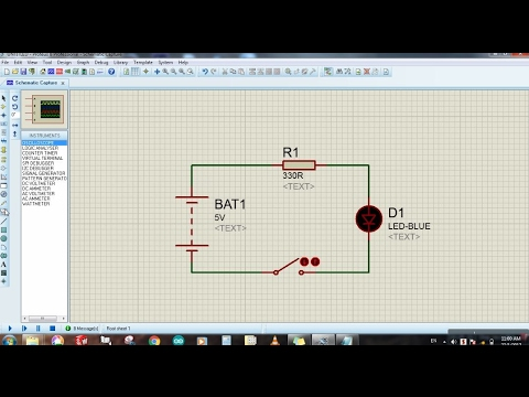 Proteus For Beginners Tutorial 1 Circuit Designing Simulation And Voltage Measuring Youtube