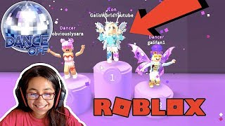 I WON! 1ST PLACE ON DANCE OFF | ROBLOX | GALI PLAYS | FAMBAM GAMING