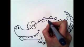 come disegnare un coccodrillo   come disegnare un coccodrillo passo dopo passo