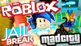 STEALING THE TRAIN AND DISC IN JAILBREAK AND MADCITY ROBLOX Gameplay English