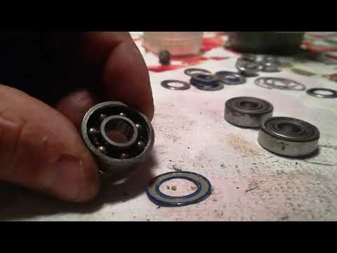 PULIZIA CUSCINETTI PARTE 4, How to clean roller bearings PART 4