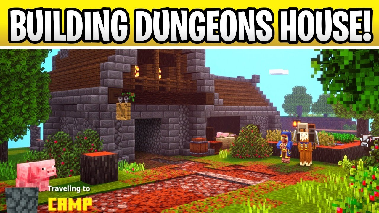 Minecraft 11.111 Building Dungeons Camp Site House!