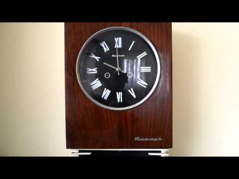 Настінний механічний годинник янтар.Бой часов янтарь. Настенные часы янтарь. Jantar. Часовой бой.