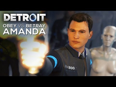 All Obey Amanda vs Betray Amanda Choices (SHOOT VS DONT SHOOT) - DETROIT BECOME HUMAN