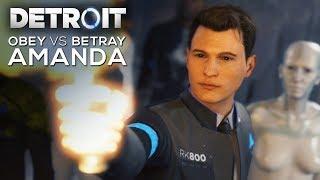 All Obey Amanda vs Betray Amanda Choices (SHOOT VS DON'T SHOOT) - DETROIT BECOME HUMAN