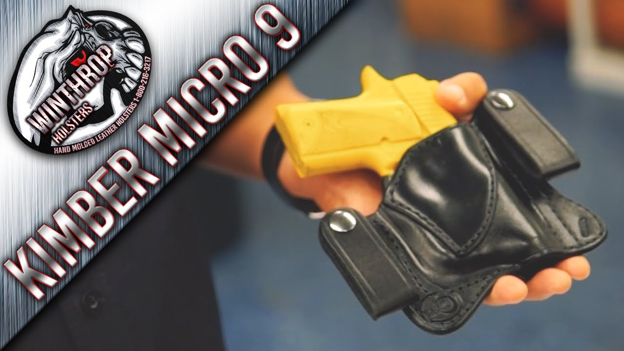 Kimber Micro 9 w/ Streamlight TLR-6 IWB Concealment Holster By:  WinthropHolsters com