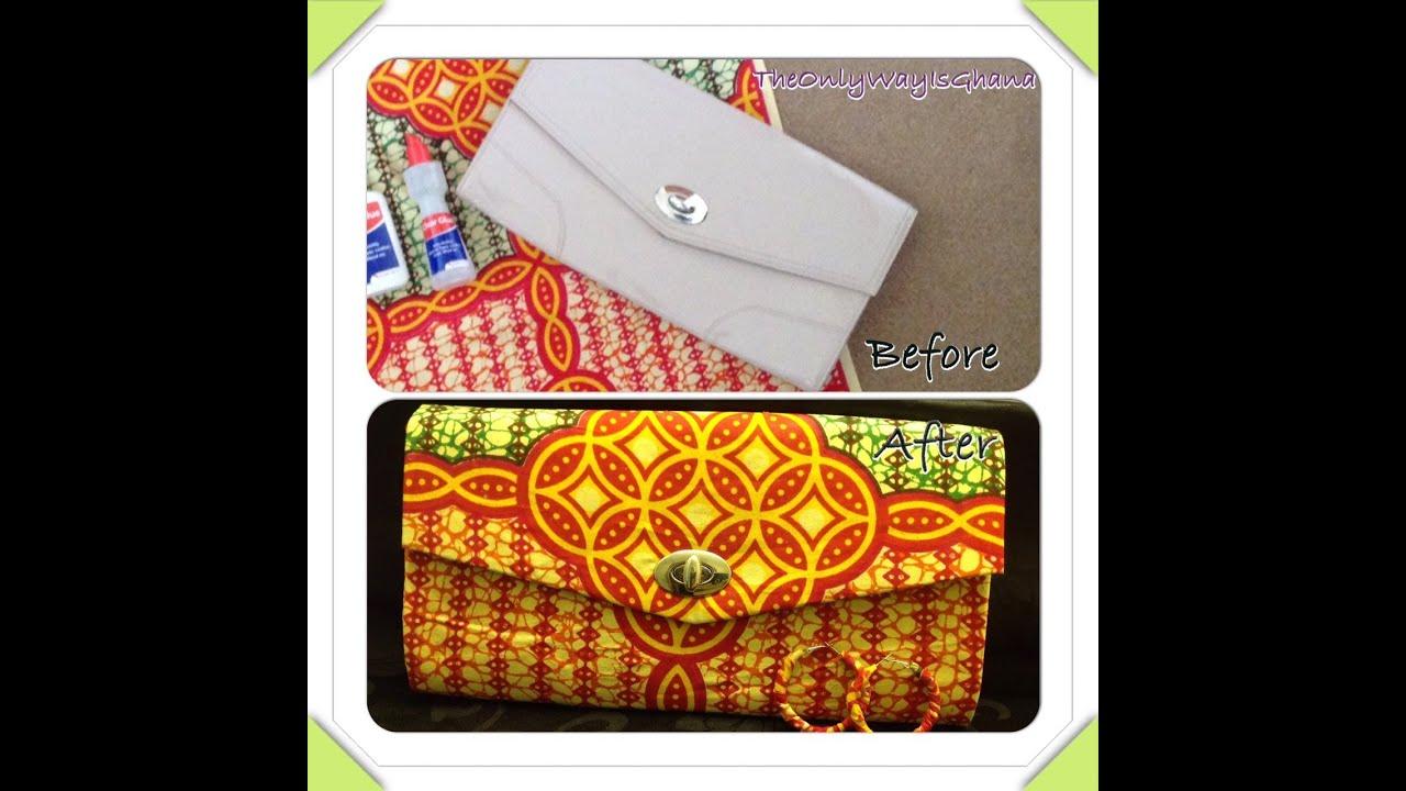 Diy how to cover a clutch bag with african ankara farbic youtube solutioingenieria Choice Image