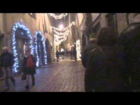 bergamo città alta  luminarie feste  di natale del, 2014 3° video