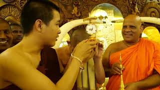 พระครูไทย อัญเชิญพระบรมสารีริกธาตุ ประเทศศรีลังกา
