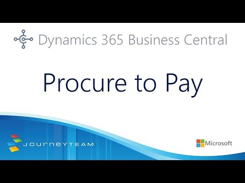 Procure to Pay in Microsoft Dynamics 365 Business Central