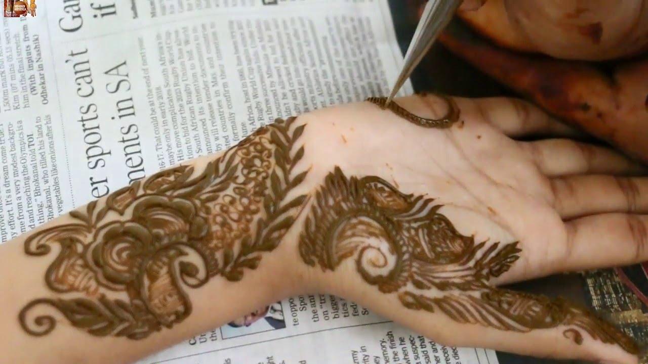 Mehndi design 2017 facebook - Western Mehndi Design For Young Girls Diy Beautiful Girlish Henna Youtube