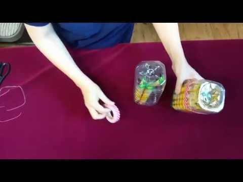 페트병 DIY - 뚜껑있는 수납용기