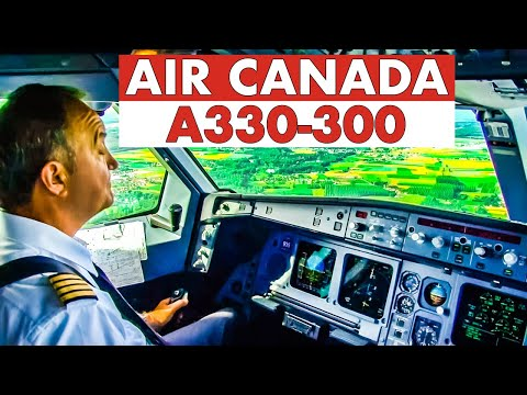 Piloting The AIR CANADA Airbus A330-300 Into Brussels