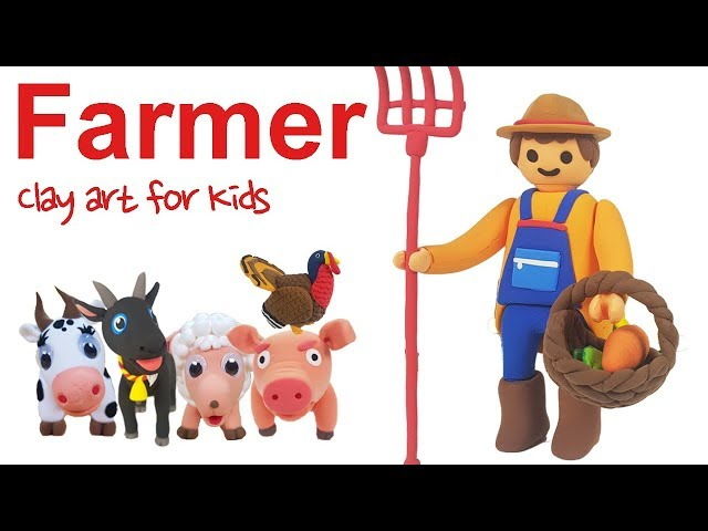 Clay Farmer For Kids | How To Make A Clay Famer | Clay modeling