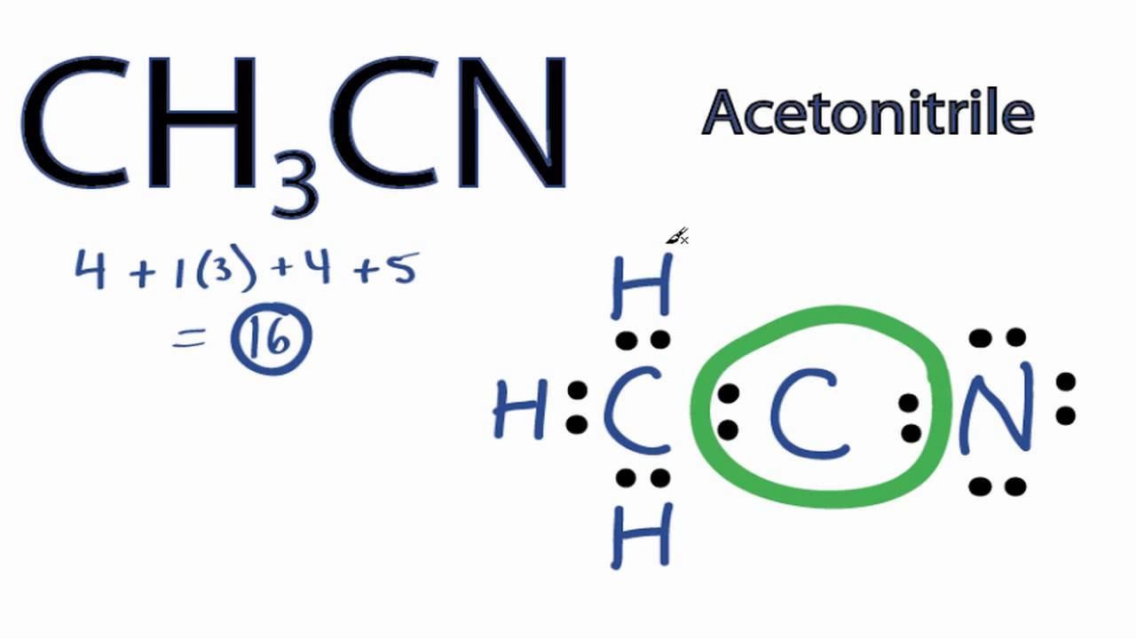 ch3cn lewis structure how to draw the electron dot structure for acetonitrile [ 1280 x 720 Pixel ]