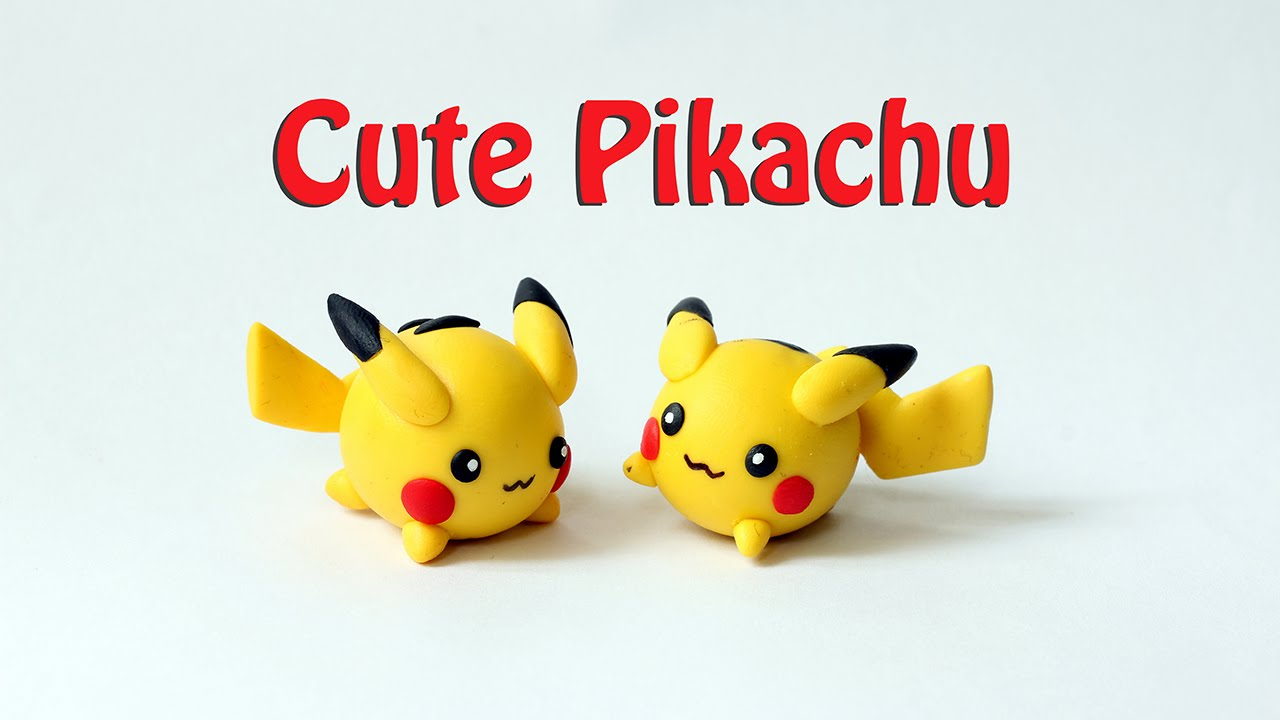 Chibi Pikachu Clay Tutorial