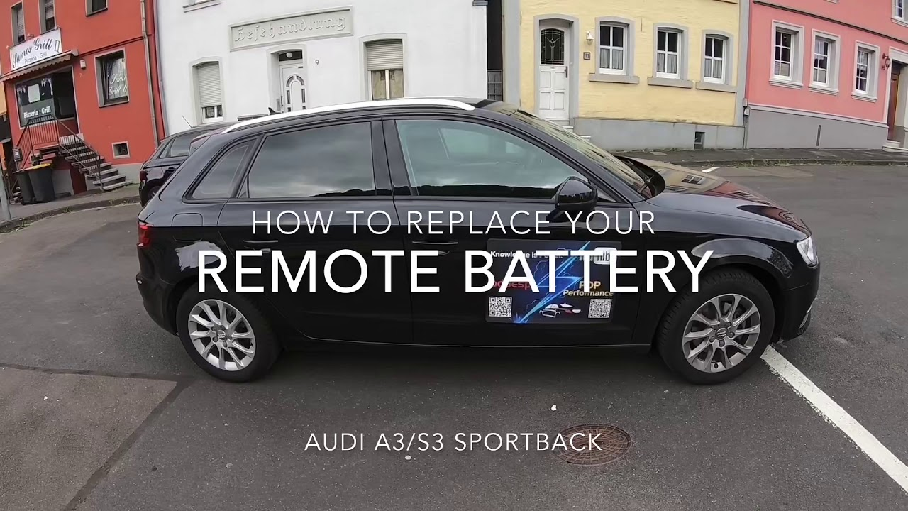 How to replace the battery for the remote control key Audi A3/S3 Sportback DIY