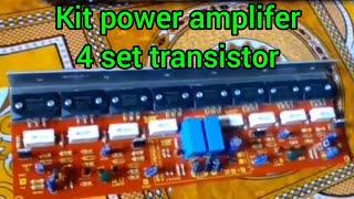 Unboxing kit power amplifier 600 Watt stereo
