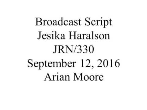 Broadcast Script Youtube