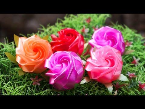 วิธีพับเหรียญโปรยทานดอกกุหลาบแย้ม - 108 Ribbon