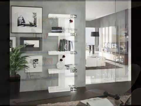 Librerias modernas mbar muebles youtube for Librerias salon modernas