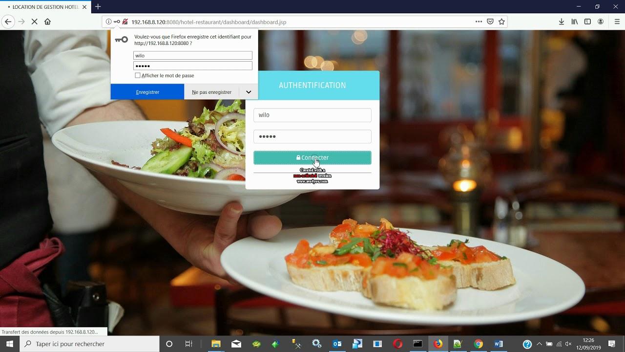 Logiciel Web De Gestion Hotel Et Resto Youtube