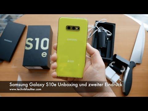 Samsung Galaxy S10e Unboxing und zweiter Eindruck