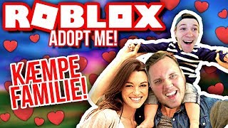KÆMPE FAMILIE - FULD AF KÆRLIGHED! :: Dansk Roblox Adopt Me!